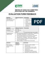 Evaluation Form - Feedback - V2020 Meeting (T&T 2011)