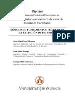MOD. 3 FUNDAMENTOS TÉCNICOS DE LA EXTINCIÓN DE INCENDIOS