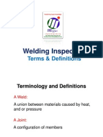 Welding Inspection Terms Definitions Symbols