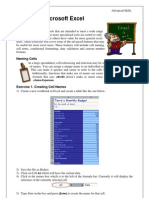 Using Microsoft Excel 7 Advanced
