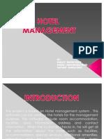 c++ Ppt on Hotel Management