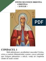 Acatistul Sfintei Mucenite Cristina Hristina