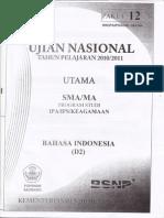 UN TP 2010/2011 Bahasa Indonesia Paket 12