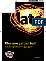 Pleasure Garden Ball Programme