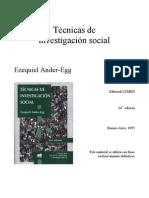 ANDER EGG-Tecnicas de Investigacion Social