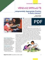 Developmentally Appropriate Practice in Early Literacy