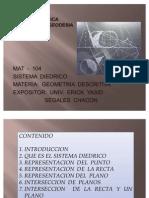 Sistema Diedrico Mat 104