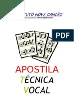 APOSTILA DE TÉCNICA VOCAL
