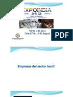 Perfiles Expo India 2012. Rueda de Negocios con empresas Textiles y Farmacéuticas de la India