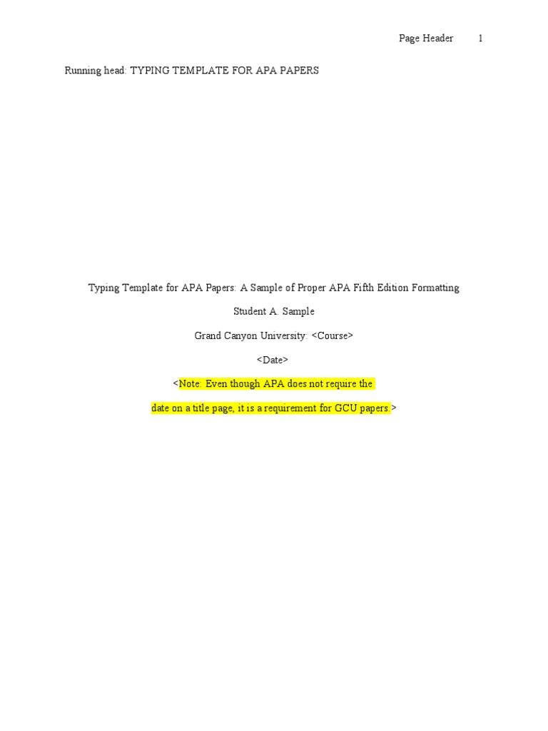 apa 5th edition template without abstract citation typefaces