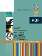 BCP 8-Donor Strategies and Practices in CSDev in the Balkans