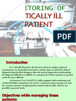 Monitoring of Critically Ill Patient