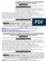 Manifiesto Manifestación Aljarafe de Guzmán, 4 Marzo 2012