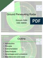 Ground Penetrating Radar Gonzolo Gallo