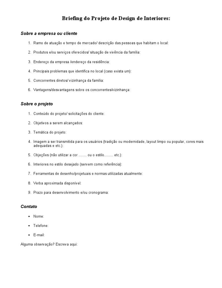 Modelo De Briefing 01 Tecnologia Informatica