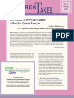 Ten Reasons Why Militarism is Bad for Queer People