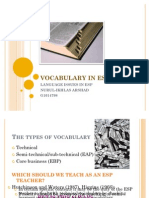 Vocabulary in Esp