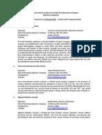 ICoC Signatory Companies - February 2012