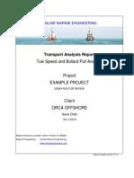 Tow Speed and Bollard Pull Analysis 2010