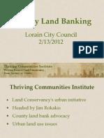 Lorain City Council Land Banking 2-13-2012