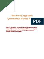 Recomendaciones de Lectura Febrero 2012