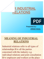 Poor Industrial Relations
