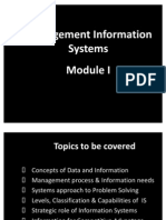 MIS Lecture Slide Module I