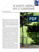 L'idée d'une société libérale, progressiste et européenne