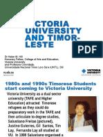 Victoria University and Timor-Leste