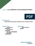 Env National - Dechets Medicaux