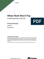When Work Won't Pay