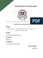 RECICLAJE DE COMPONENTES ELECTRÓNICOS
