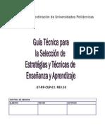 GUIA TECNICAS Y ESTRATEGIAS ENSEÑANZA