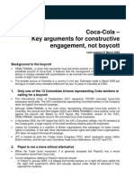 Coke Key Arguments