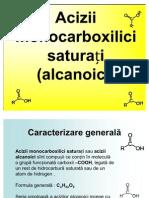 Acizii monocarboxilici saturați (alcanoici)