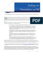 Ending Our Dependence on Oil