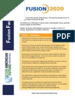 Fusion Fact Sheet
