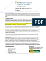 financial representative intern description july 20111