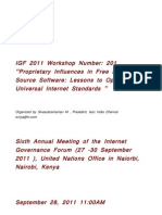 Transcript of Workshop No 201, IGF Kenya