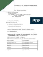Identificacion Del Proyecto de Desarrollo rial Tecnologico Origina