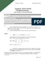 Tutorial 10 Solutions
