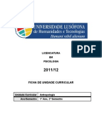 Lusofona Programa de Antropologia 2012