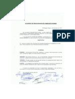 Acuerdo de Realizacion de Comedor Interno
