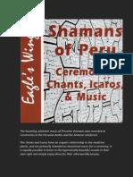 Shamans of Peru - Ceremonial Chants, Icaros, and Music CD
