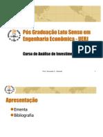 curso de an+ílise de investimentos