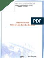 Informe Final Universidad de La Serena - Contraloría General de la República