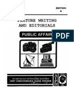 US Army Journalist Course DI0240-A - Feature Writing and Editorials