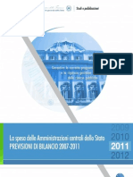 La Spesa Delle Amministrazioni Centrali Dello Stato 2011