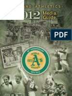 2012 Oakland a's Media Guide