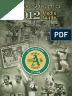 2012 Oakland a's Media Guide